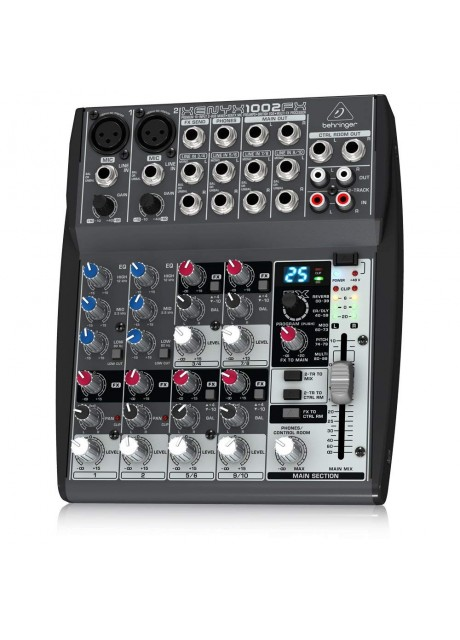 Behringer xenyx 1002fx Premium 10-Input 2-Bus Mixer with XENYX Mic Preamps, British EQs
