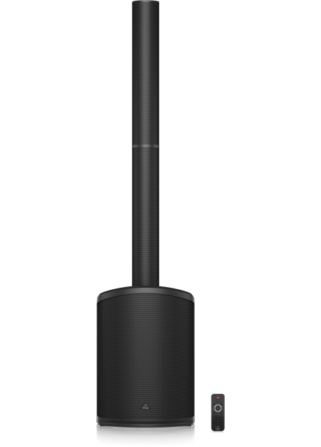 """Behringer C210 200 Watt Powered Column Loudspeaker with an 8"""" Subwoofer, 4 High Frequency Drivers, Bluetooth Audio Streaming, LED Lighting and Remote Control"""
