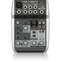 Premium 5-Input 2-Bus Mixer with XENYX Mic Preamp and Compressor, British EQ and USB/Audio Interface