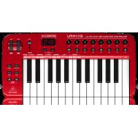 Behringer UMA25S Ultra-Slim 25-Key USB/MIDI Controller Keyboard with Audio Interface