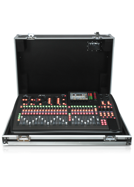 Behringer X32 TP 40-Input, 25-Bus Digital Mixing Console with 32 Programmable Midas Preamps, 25 Motorized Faders, Channel LCD's, 32 Channel Audio Interface and Touring-Grade Road Case