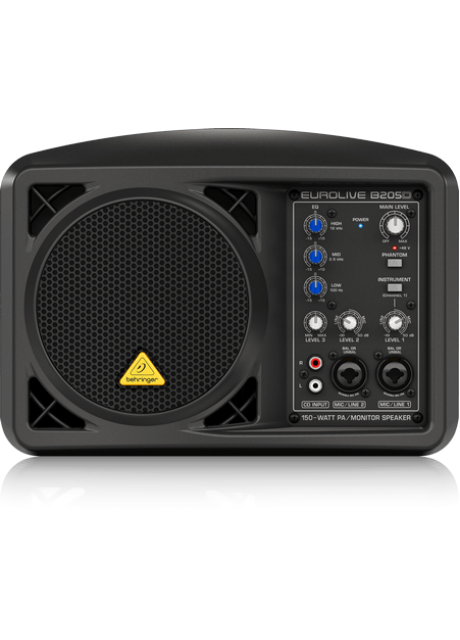 Behringer B205D Ultra-Compact 150 Watt PA/Monitor Speaker System