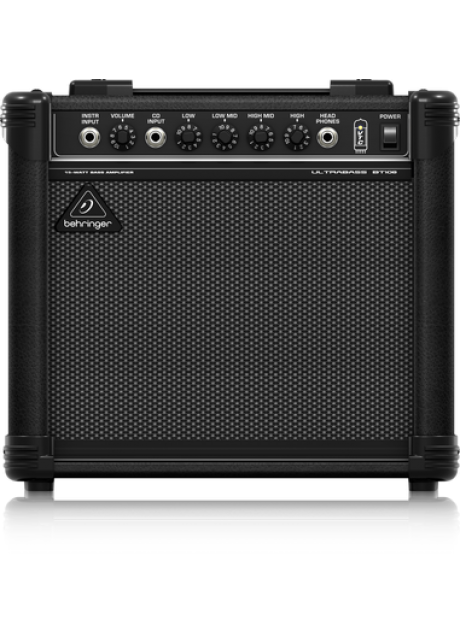 """Behringer BT108 Ultra-Compact 15 Watt Bass Amplifier with VTC-Technology and Original 8"""" Bugera Speaker"""