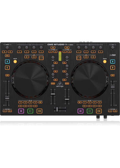Behringer CMD STUDIO 4A 4-Deck DJ MIDI Controller with 4 Channel Audio Interface