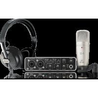 Behringer U-PHORIA STUDIO PRO Complete Recording Bundle with High Definition USB Audio Interface, Condenser Microphone, Studio Headphones and More