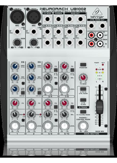 Behringer UB1002 Ultra-Low Noise Design 10-Input 2-Bus Mic/Line Mixer