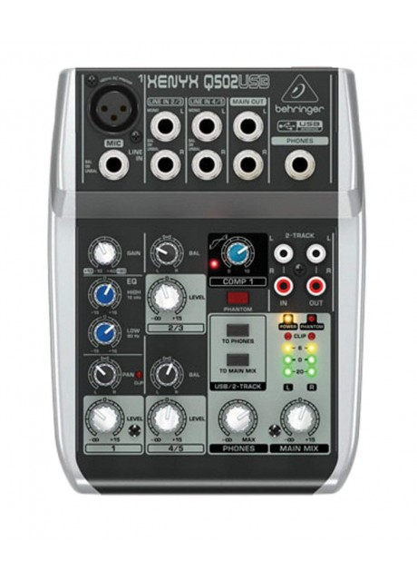 Behringer Xenyx Q502USB Premium 5 Input 2 Bus Mixer with USB Audio
