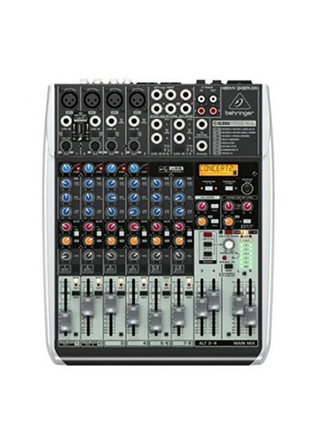 BEHRINGER, QX1204USB Premium 12-Input 2/2-Bus Mixer Xenyx Mic Preamps