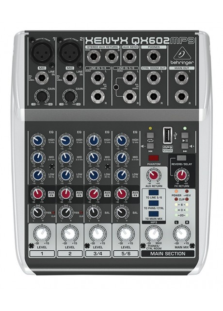 BEHRINGER XENYX QX602MP3 Analog Mixer