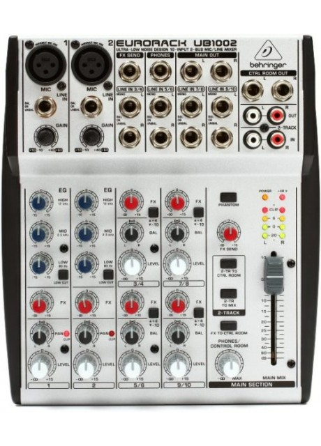 Behringer UB1002 Eurorack UB1002 Mixer (10 Inputs)