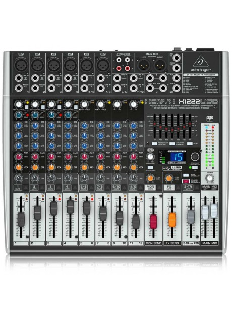 Behringer Xenyx X1222USB Premium 16-Input 2/2-Bus Mixer with USB