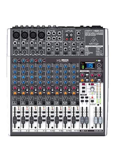 Behringer Xenyx X1622USB Premium 16-Input 2/2-Bus Mixer with USB