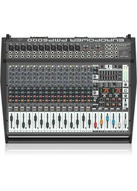 Behringer Europower PMP6000 1600-Watt 20-Channel Powered Mixer