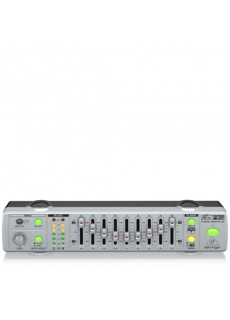 Behringer MiniFBQ FBQ800 Ultra-Compact 9-Band Graphic Equalizer