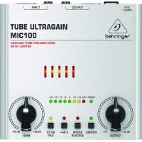 Behringer Tube Ultragain MIC100 Audiophile Vacuum Tube Preamplifier