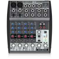Behringer Xenyx 802 Premium 8-Input 2-Bus Mixer with Xenyx Mic