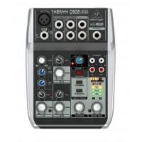 Behringer Xenyx Q502USB Premium 5 Input 2 Bus Mixer with USB Audio