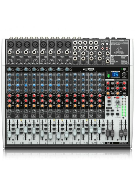 Behringer Xenyx X2222USB Premium 22-Input 2/2-Bus Mixer with USB