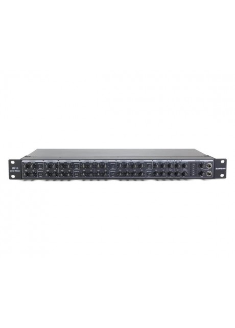 """Samson SM10 Ten channels (eight 1/4"""" stereo line inputs, two combination XLR-1/4"""" inputs)"""