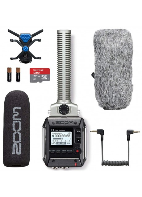 Zoom F1-SP Field Recorder & Shotgun Microphone Bundle with Deadcat Windscreen & 32GB Micro SDHC Card